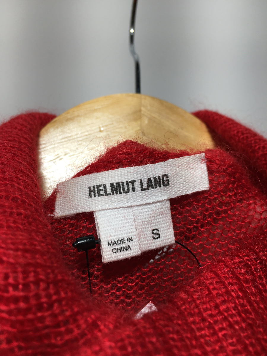 Helmut Lang/S/Knitted Vest/RED/Cotton/Plain