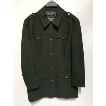 VERSACE JEANS COUTURE/L/Jacket/GRN/Polyester/Plain