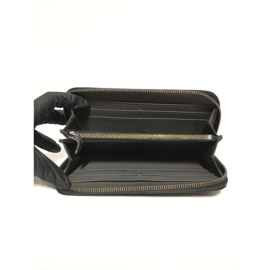 BOTTEGA VENETA/Long Wallet/Leather/BLK/Gray