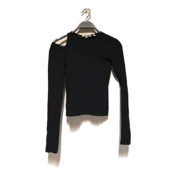 Helmut Lang//LS Blouse/S/BLK/Others/Plain