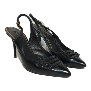 DOLCE&GABBANA//Heels/EU37/BLK/Leather/Plain