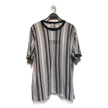 GUESS/STRIPE/T-Shirt/./GRY/Cotton/Stripe