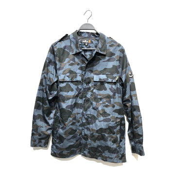 Mr.BATHING APE//LS Shirt/USXL/NVY/Cotton/Camouflage