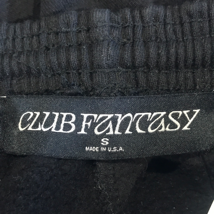 CLUB FANTASY//Cropped Pants/S/BLK/Cotton/Plain
