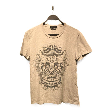 Alexander McQueen//T-Shirt/S/GRY/Cotton/Graphic