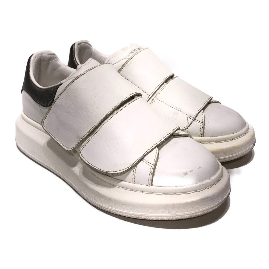 Alexander McQueen/OVERSIZED VELCRO/Low-Sneakers/6/WHT/Leather/Plain