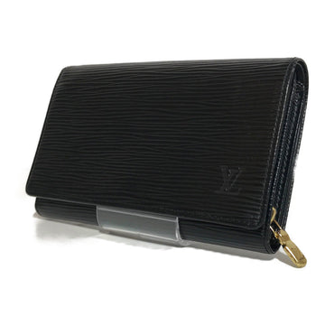 LOUIS VUITTON/EPI/Wallet//BLK/Leather/Plain