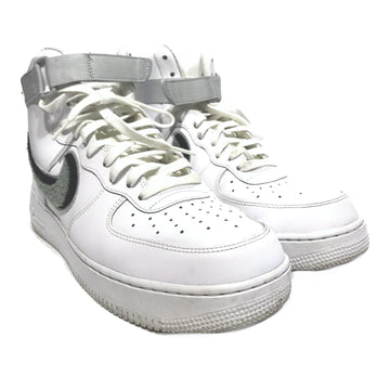 NIKE/AIR FORCE MIDS/Hi-Sneakers/10.5/WHT/Faux Leather/Plain