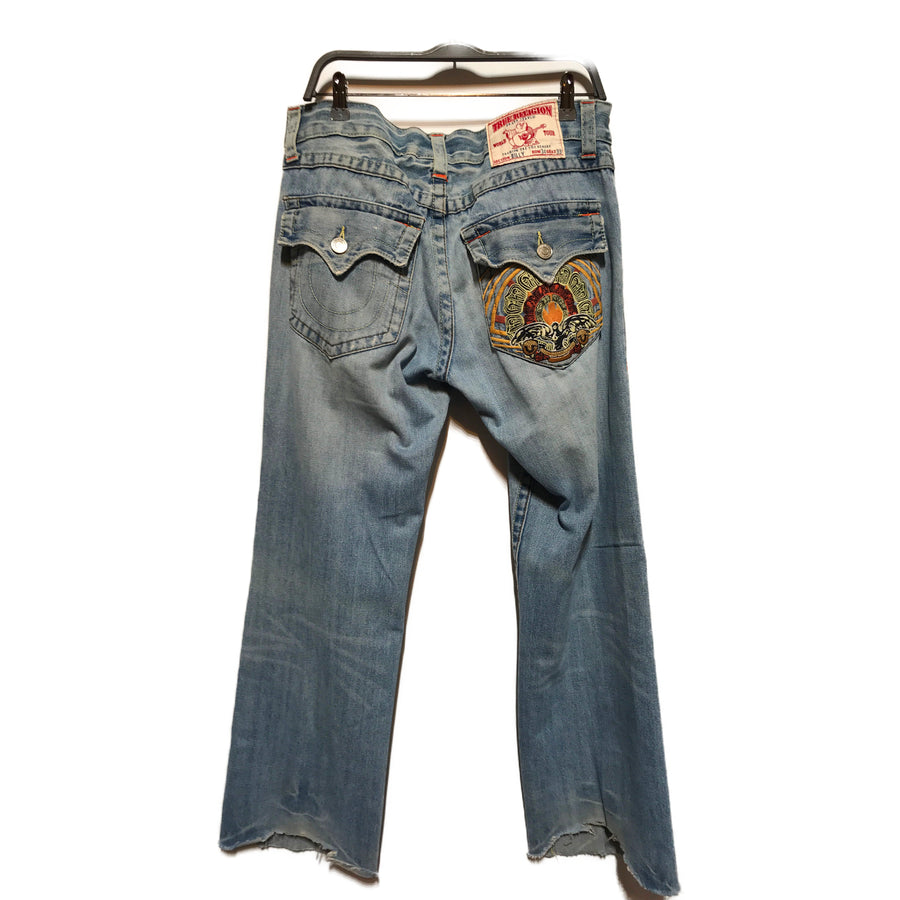 TRUE RELIGION/BILLY/Bootcut Pants/34/IDG/Denim/Graphic