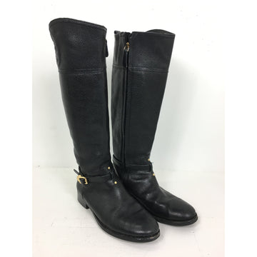TORY BURCH/8.5/Long Boots/BLK/Leather/Plain