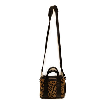 Alexander Wang//Cross Body Bag//BLK/Leather/Animal Pattern