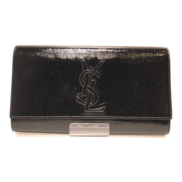 YVES SAINT LAURENT//Clutch Bag//BLK/Leather/Plain