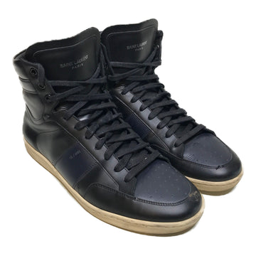 SAINT LAURENT//Hi-Sneakers/11/BLK/Others/Plain