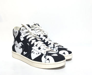 PLAY COMME des GARCONS/10/Hi-Sneakers/BLK/Others/All Over Print