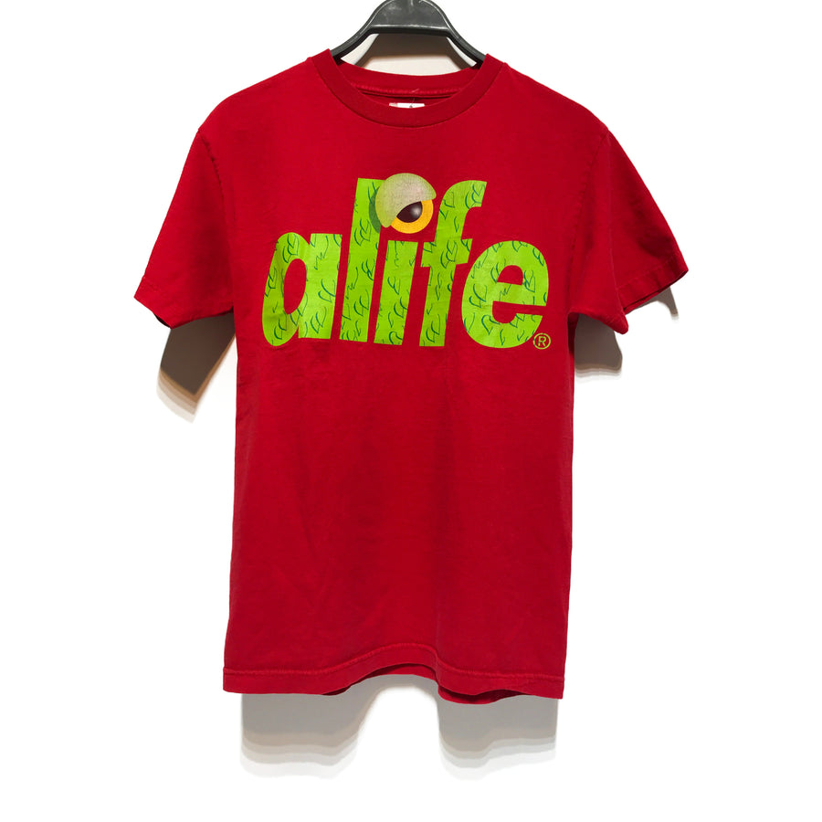 ALIFE/T-Shirt/M/RED/Cotton/Graphic