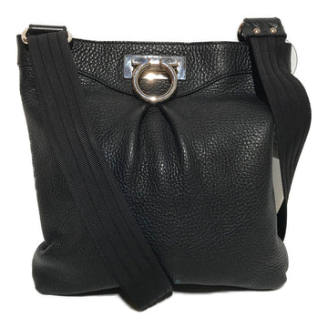 Salvatore Ferragamo/Cross Body Bag/BLK/Leather/Plain