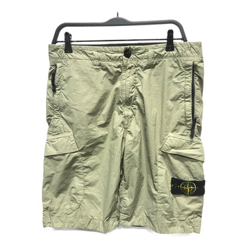 STONE ISLAND//Shorts/30/GRN/Cotton/Plain