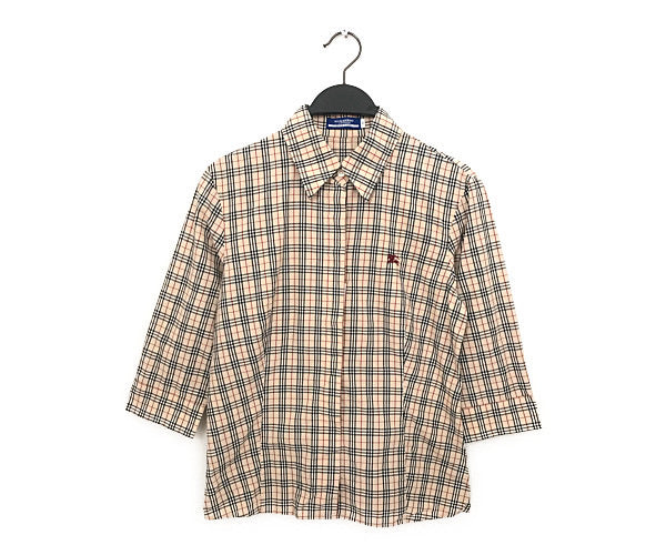BURBERRY BLUE LABEL/3 | 4S Shirt/40/Cotton/BEG/Plaid