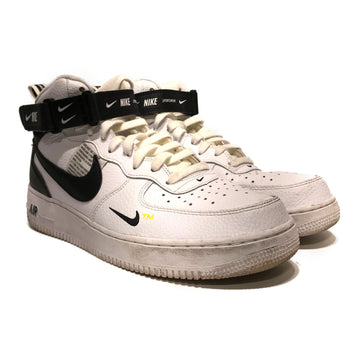 NIKE/NIKE AIR FORCE 1 MID UTILITY WHITE BLACK/Hi-Sneakers/11/WHT/Others/Plain