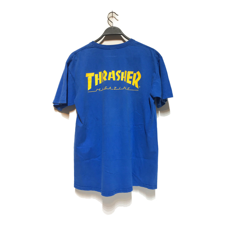 Supreme/THRASHER/T-Shirt/L/BLU/Cotton