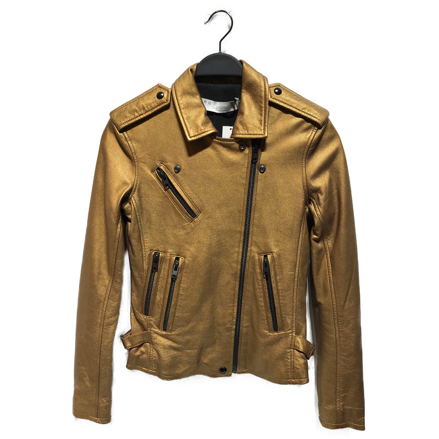 IRO//Leather Jkt/36/GLD/Leather/Plain