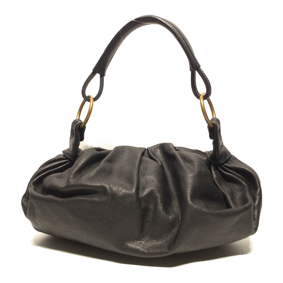 MIU MIU//Hand Bag//BLK/Leather/Plain