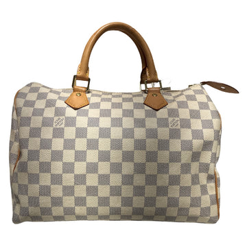 LOUIS VUITTON/SPEEDY 30/Bag//WHT/Leather/Plain