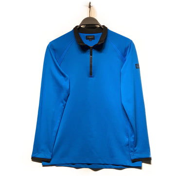 BURBERRY GOLF//Sweatshirt/3/BLU/Nylon/Plain