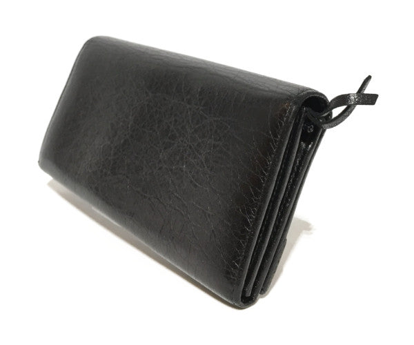 BALENCIAGA/Long Wallet/Leather/BLK/