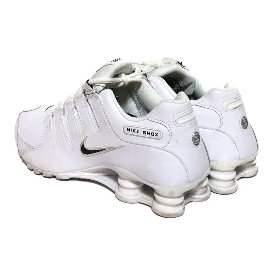 NIKE/SHOX/Low-Sneakers/./WHT/Leather/Plain