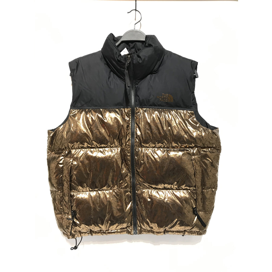 THE NORTH FACE/XL/Puffer Vest/GLD/Polyester/Plain