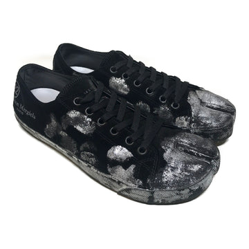 Maison Margiela//Low-Sneakers/US10/BLK/Cotton/All Over Print