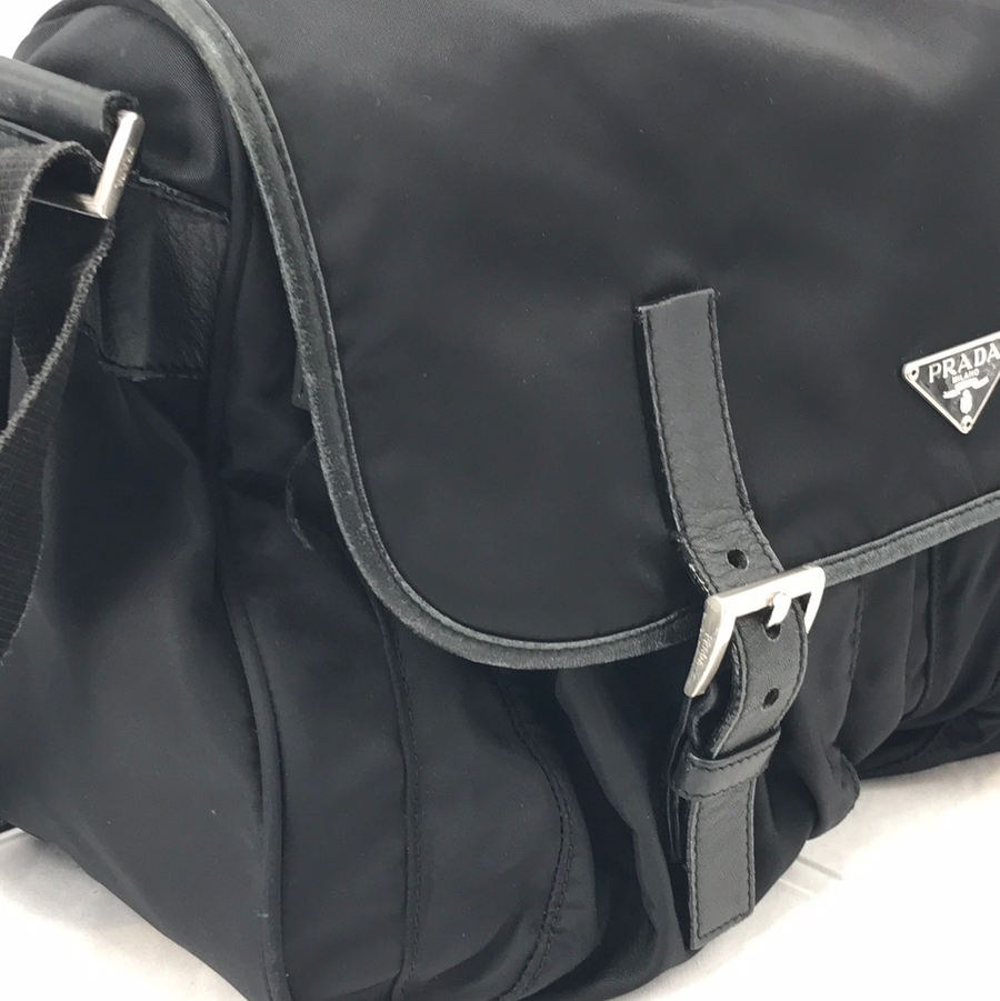 PRADA/MESSENGER BAG/Cross Body Bag//BLK/Others/Plain