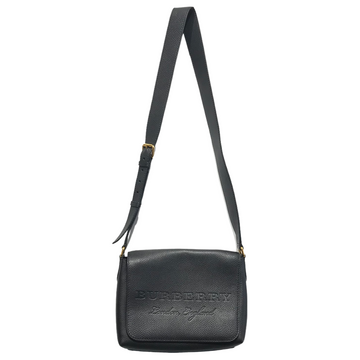 BURBERRY//Cross Body Bag//BLK/Leather/Plain