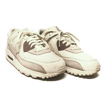 NIKE/AIR MAX/Low-Sneakers/9.5/WHT/Faux Leather/Plain