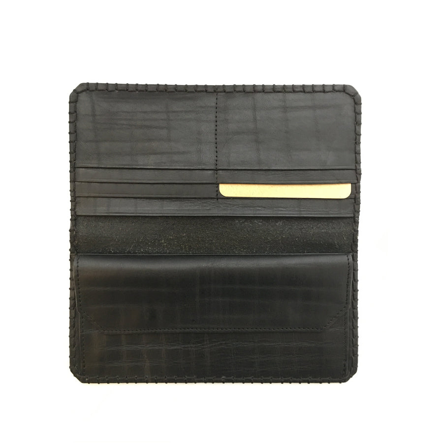 Indian Motorcycle/Long Wallet/Leather/BLK