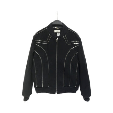 SAINT LAURENT//Jacket/48/BLK/Wool/Stripe