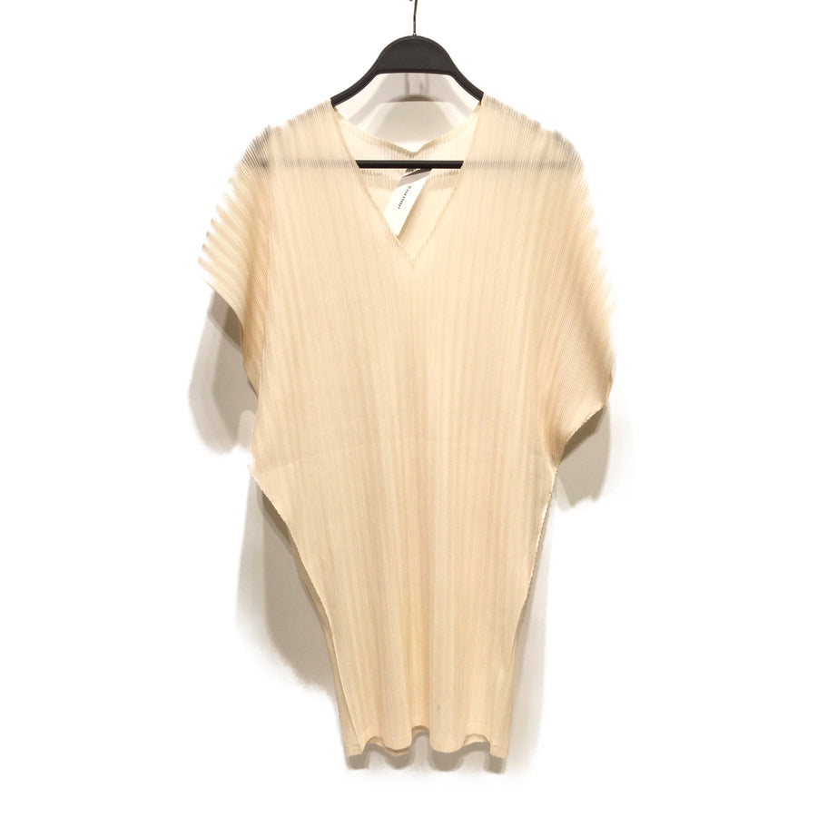 PLEATS PLEASE ISSEY MIYAKE/Tunic Dress/3/Polyester/WHT