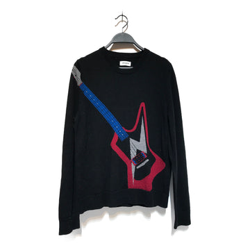 Zadig&Voltaire/ELECTRIC GUITAR/Sweater/M/BLK/Wool/Graphic