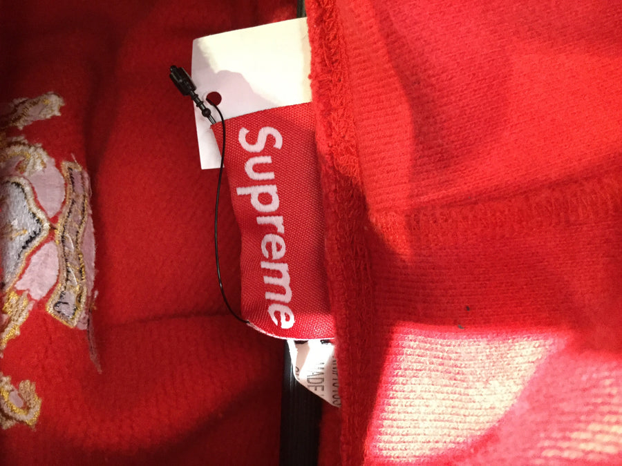Supreme/Hoodie/L/Cotton/RED