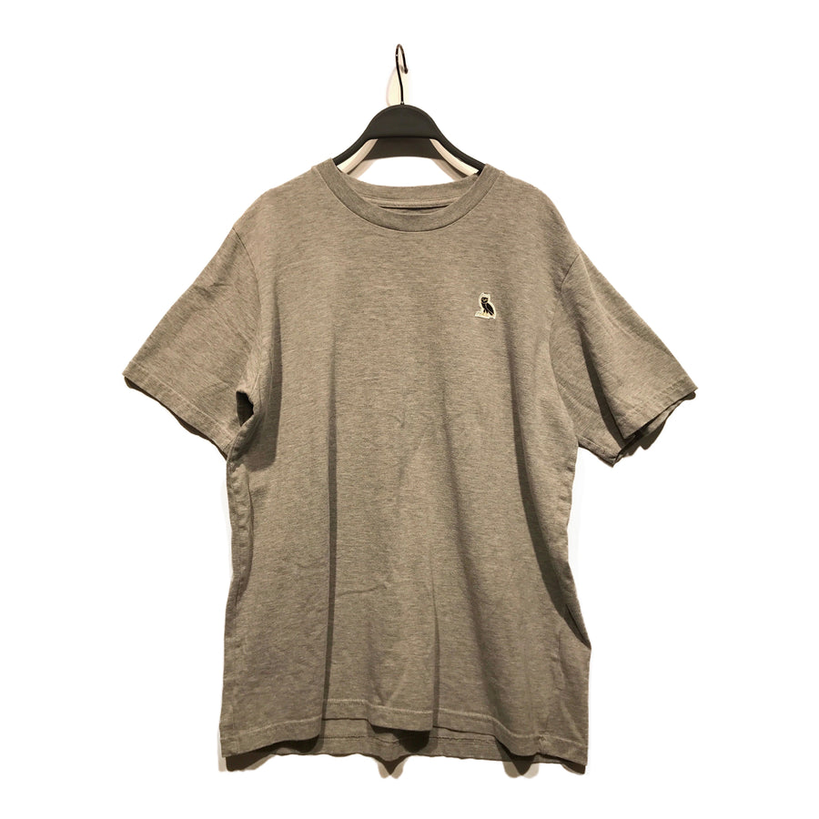 OCTOBERS VERY OWN(OVO)//T-Shirt/L/GRY/Cotton/Plain