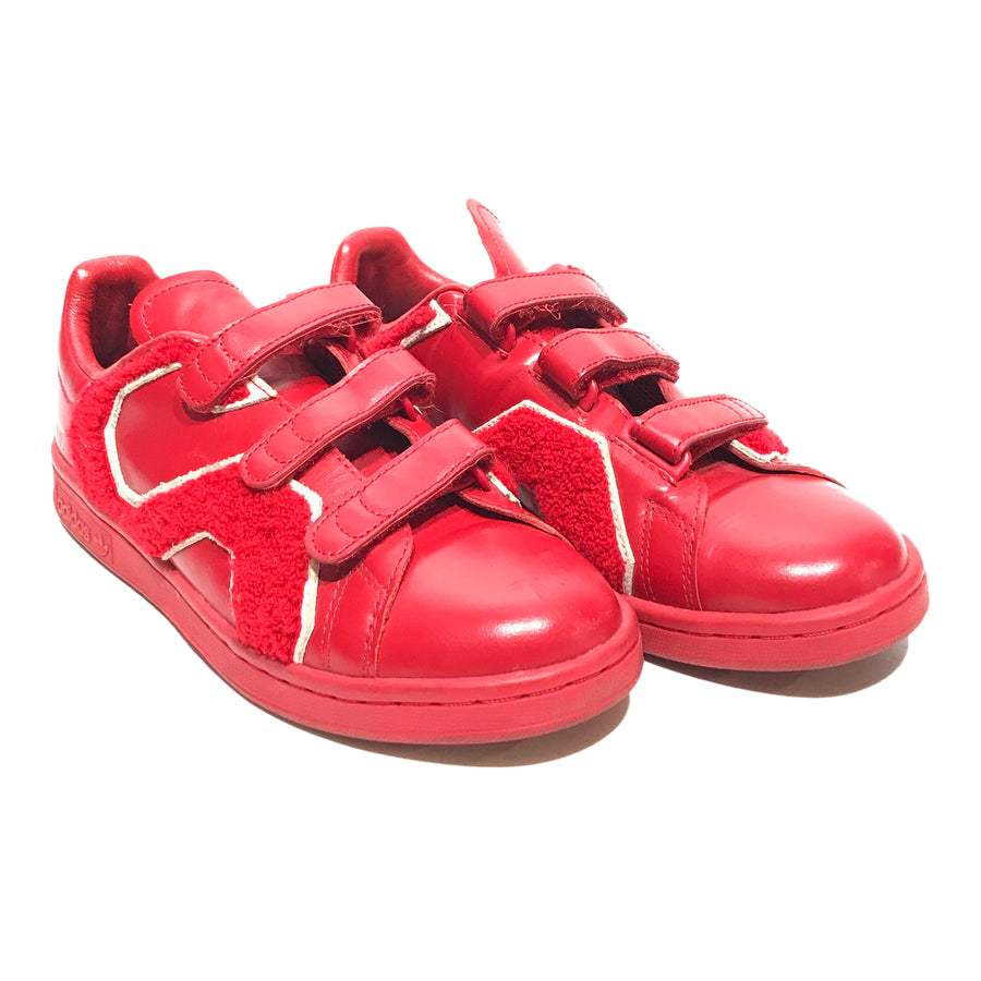 Adidas by Raf Simons//Low-Sneakers/6.5/RED/Leather/Plain