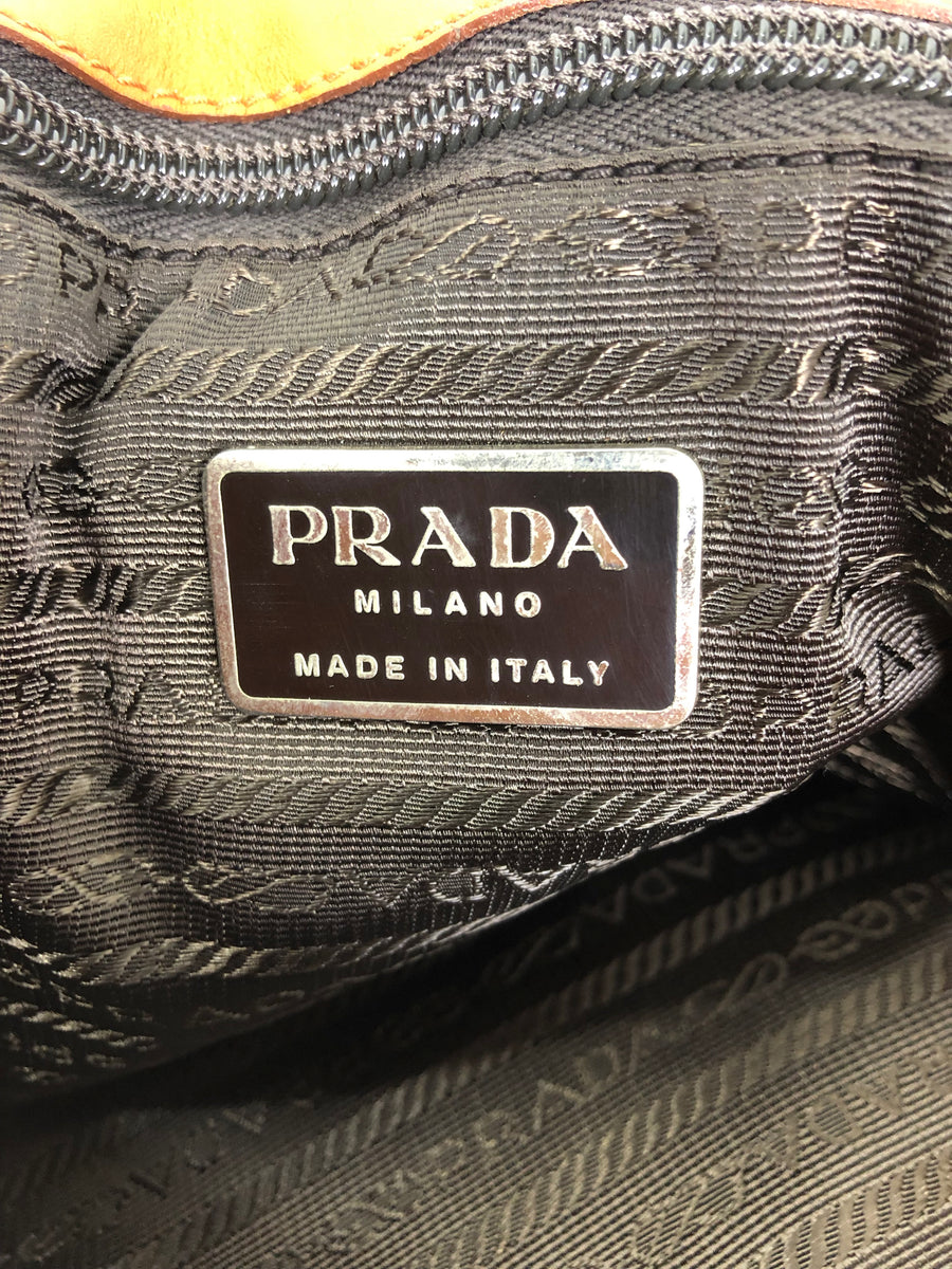 PRADA/Satchel Leather Flap Shoulder bag/Shoulder Bag/Leather/CML