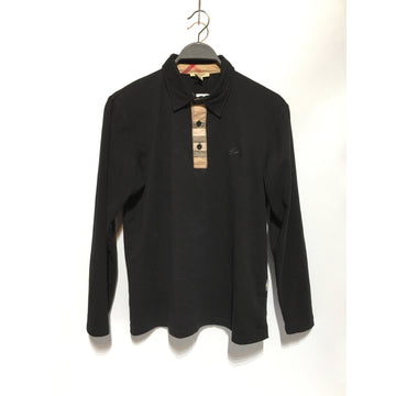BURBERRY/./LS Shirt/BLK/Cotton/Plain