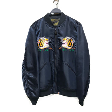 BAPE/EMBROIDERED TIGER/Riders Jkt (S)///BLK/Others/Plain