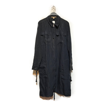 Acne Studios(Acne)//Shirt Dress/36/BLK/Nylon/Plain