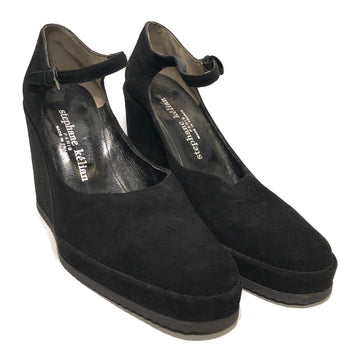 Stephane Kelian//Shoes/US7/BLK/Suede/Plain