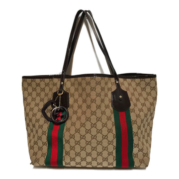 GUCCI/GG CANCVAS/Tote Bag//BEG/Cotton/All Over Print