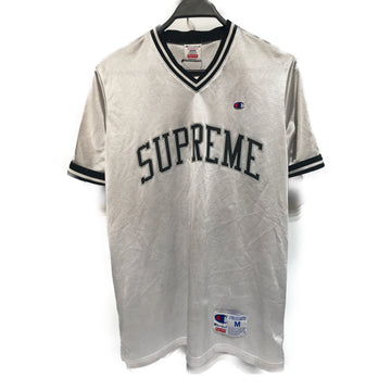 Supreme//T-Shirt/MEDIUM/SLV/Nylon/Plain