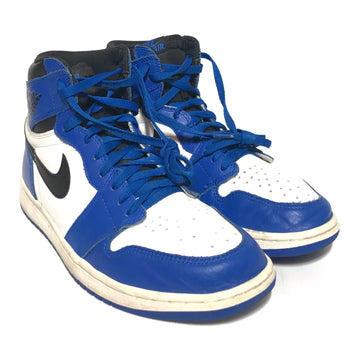 NIKE/JORDAN 1 ROYAL/Hi-Sneakers/US11/BLU/Leather/Plain